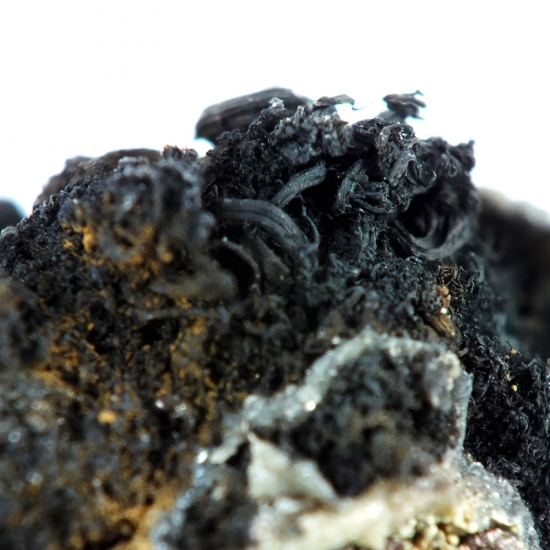 Native Silver & Acanthite On Siderite