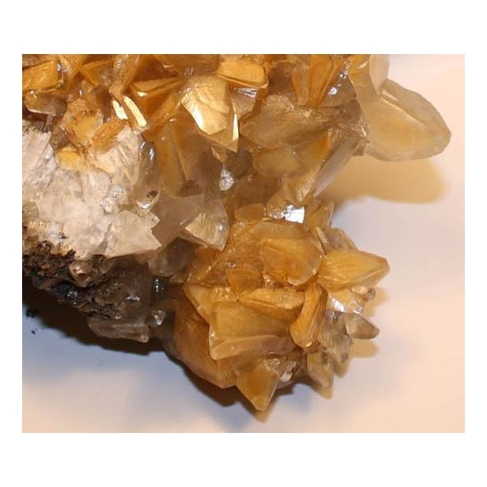 Calcite With Chalcophanite