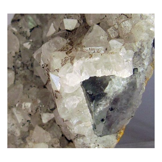 Quartz On Fluorite With Pyrite & Ankerite