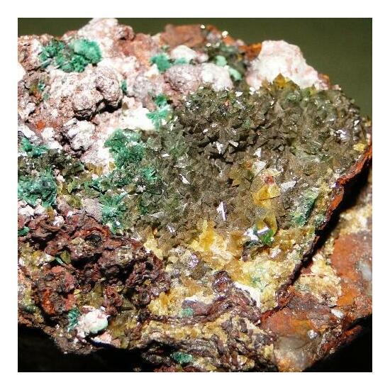 Powellite & Malachite