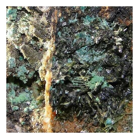 Bariopharmacosiderite & Olivenite
