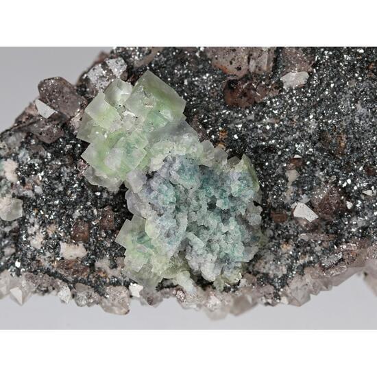 Fluorite & Hematite On Quartz