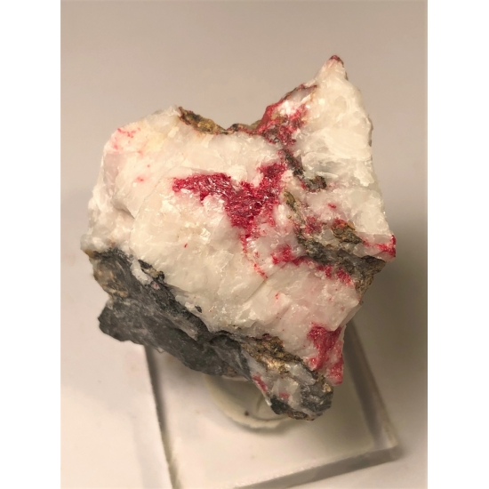 Cinnabar With Calcite