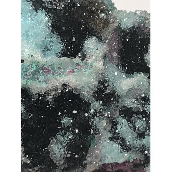 Chrysocolla With Quartz Cobaltoan Calcite & Heterogenite