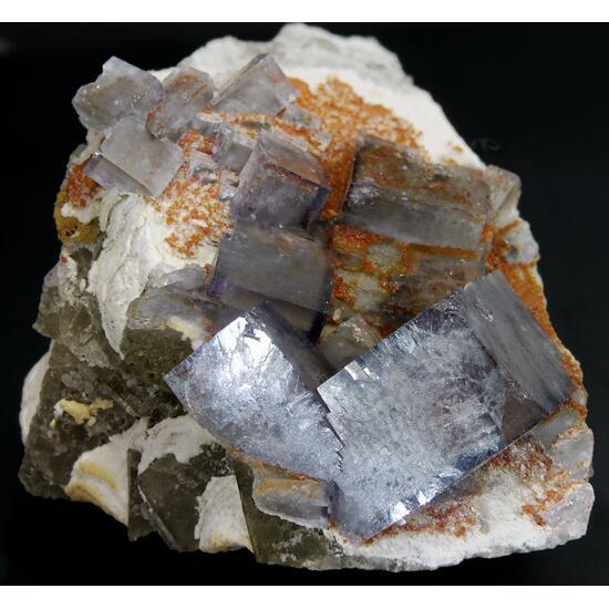Fluorite & Sphalerite Var Rubinblende