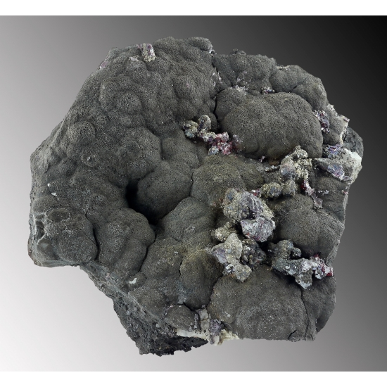Proustite & Argentopyrite On Native Arsenic