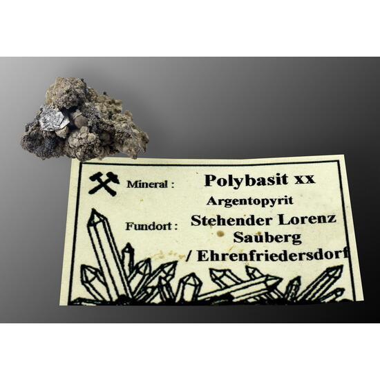 Polybasite On Argentopyrite
