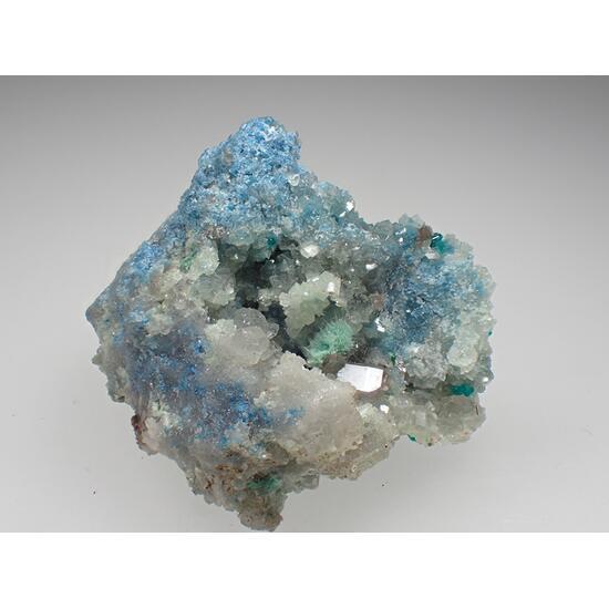 Plancheite Dioptase Calcite & Cerussite