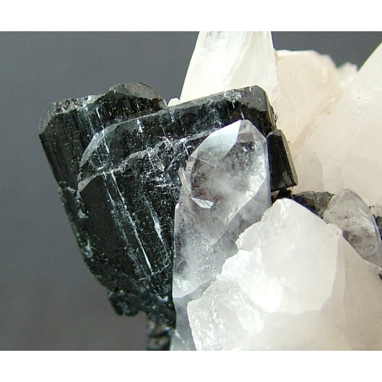 Wolframite On Quartz