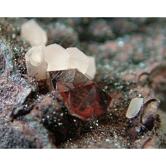 Quartz Var Eisenkiesel With Calcite & Specularite