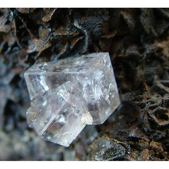 Fluorite With Goethite Psm Siderite