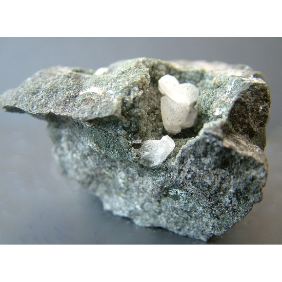Calcite On Analcime