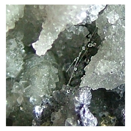 Tourmaline Molybdenite & Calcite