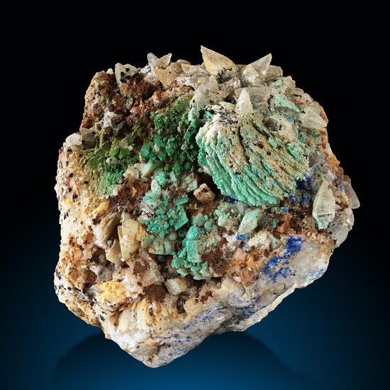 Baryte Malachite Calcite & Azurite