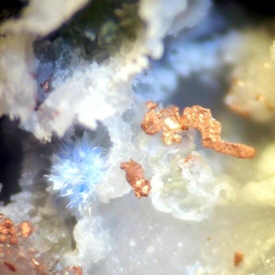Cyanotrichite & Copper