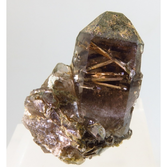 Anhydrite In Smoky Quartz