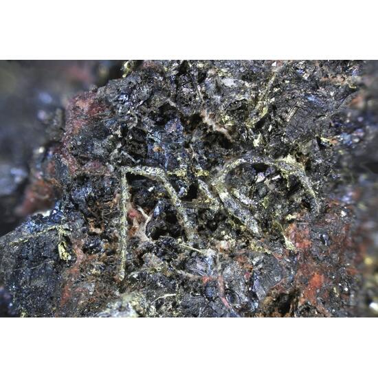 Native Gold & Erythrite Skutterudite