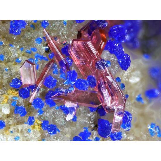 Erythrite Azurite & Glaukosphaerite