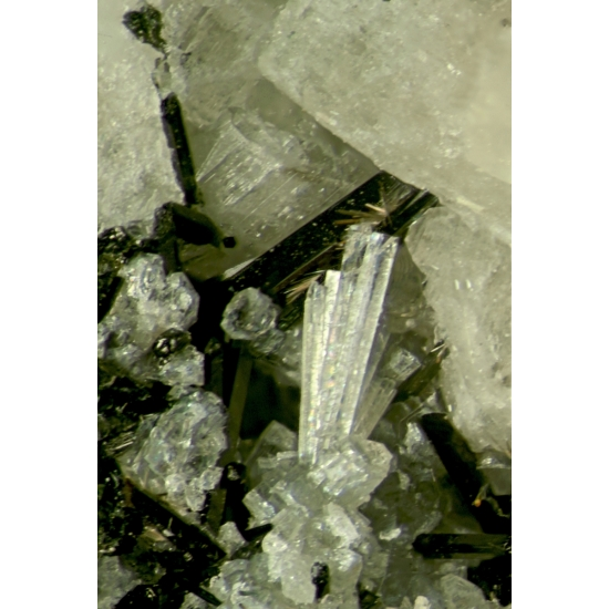 Lorenzenite On Amphibole With Nenadkevichite & Gaidonnayite