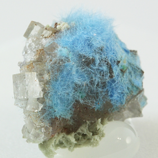Carbonatecyanotrichite Fraipontite & Fluorite