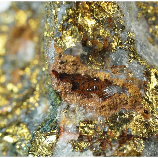 Cuprite Gypsum & Chalcopyrite