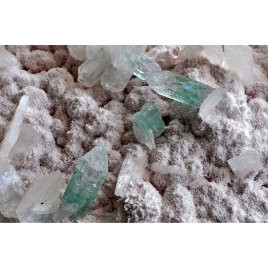 Apophyllite & Stilbite On Mordenite