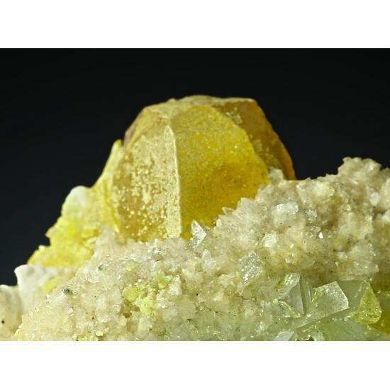 Native Sulphur With Celestine & Aragonite