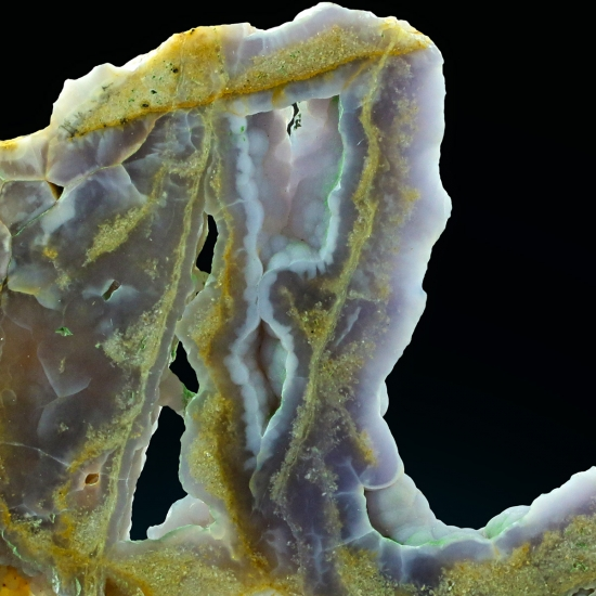 Fluorite With Chalcedony
