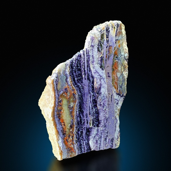 Polished Fluorite & Agate