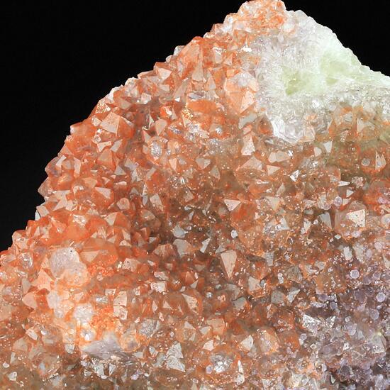 Quartz Var Eisenkiesel On Fluorite