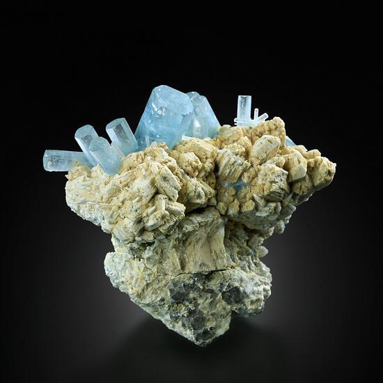 Aquamarine On Microcline
