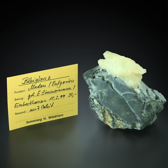 Galena with Calcite