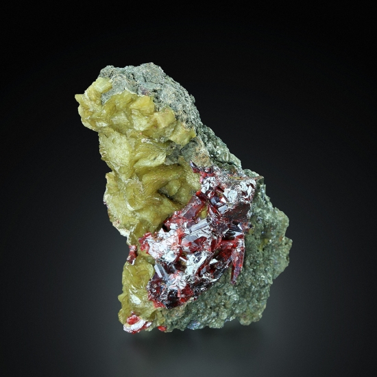 Proustite In Arsenic With Siderite