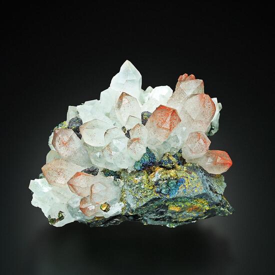 Quartz With Sphalerite Tetrahedrite Pyrite