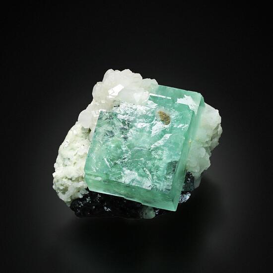 Fluorite With Calcite & Ferberite