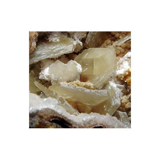 Baryte & Mimetite With Calcite & Hemimorphite