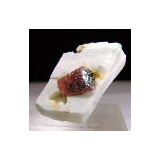 Tourmaline Var Liddicoatite On Amazonite
