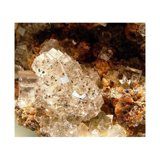 Fluorite With Sphalerite & Smithsonite