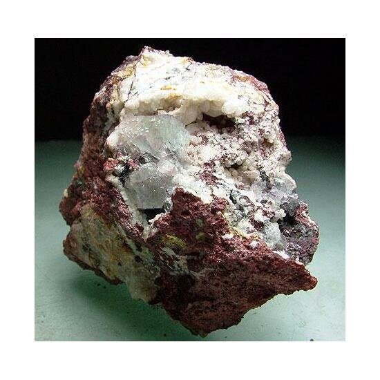 Fluorite Bismuthinite & Lepidocrocite