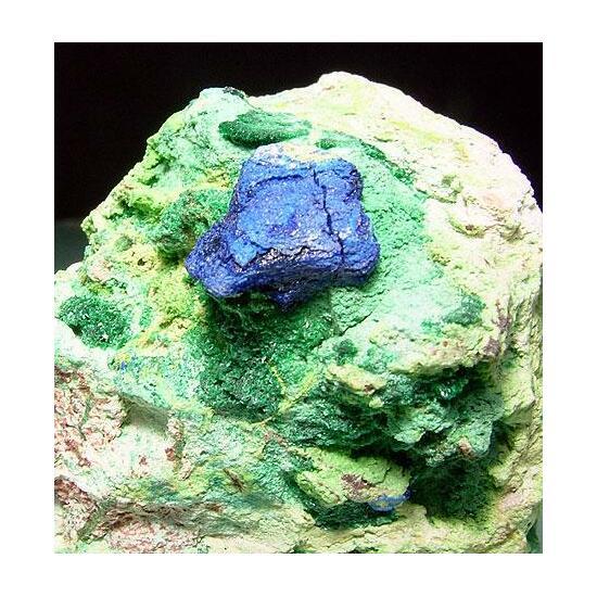 Azurite Malachite Cuprosklodowskite & Vandenbrandeite
