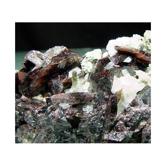 Axinite-(Fe) & Diopside