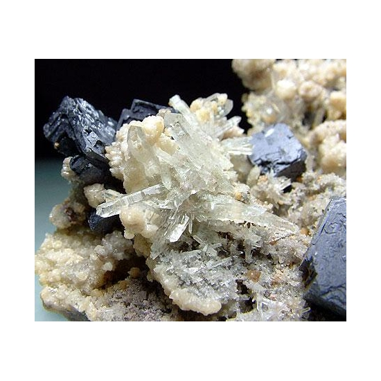 Galena With Quartz Dolomite & Chalcopyrite