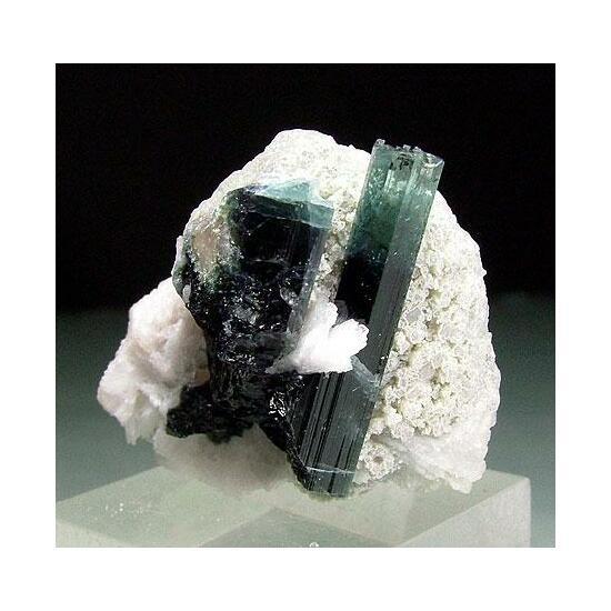 Indicolite With Cleavelandite & Lepidolite