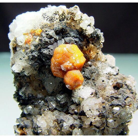 Campylite On Quartz
