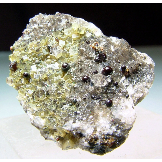 Elaterite On Fluorite