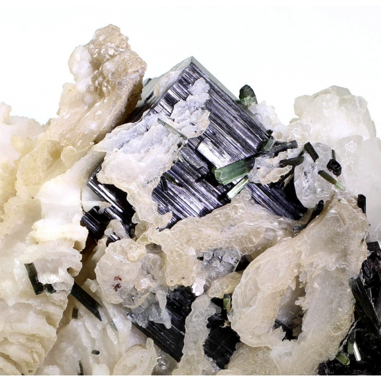Elbaite Lepidolite Topaz & Tantalite-(Mn)
