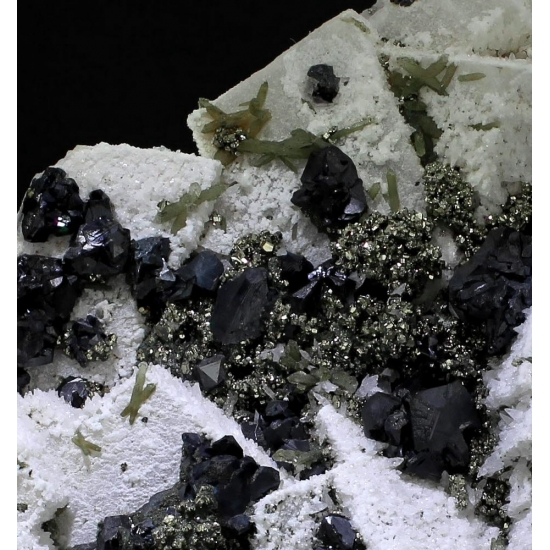Calcite Sphalerite & Pyrite With Prase