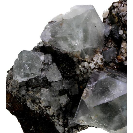 Fluorite With Siderite & Quartz
