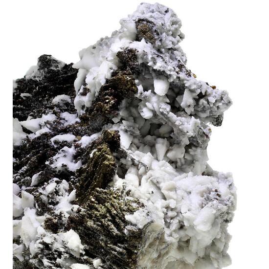 Baryte Psm Alstonite & Barytocalcite On Baryte & Pyrite