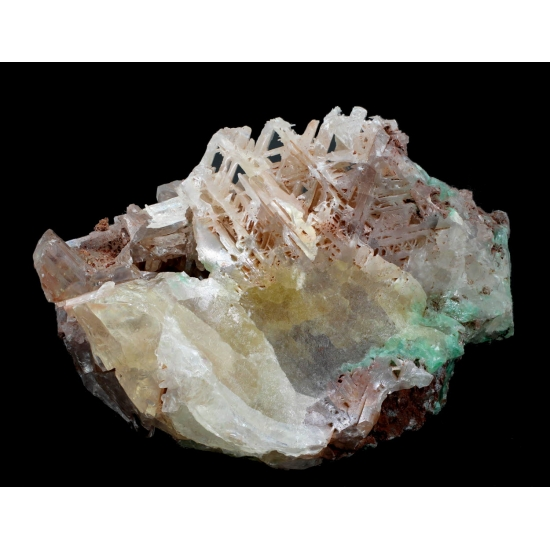 Cerussite With Malachite Inclusions
